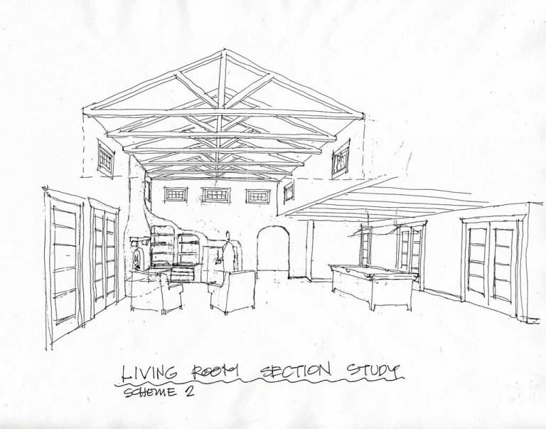 SCHEMATIC DRAWING OF LIVING ROOM