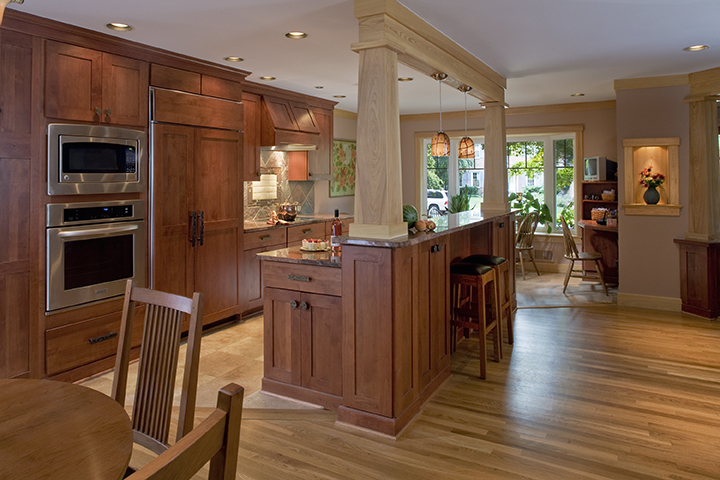 4 Brilliant Kitchen Remodel Ideas: Split Level Craftsmanship