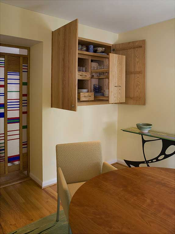 Dining Room with Cabinet Open