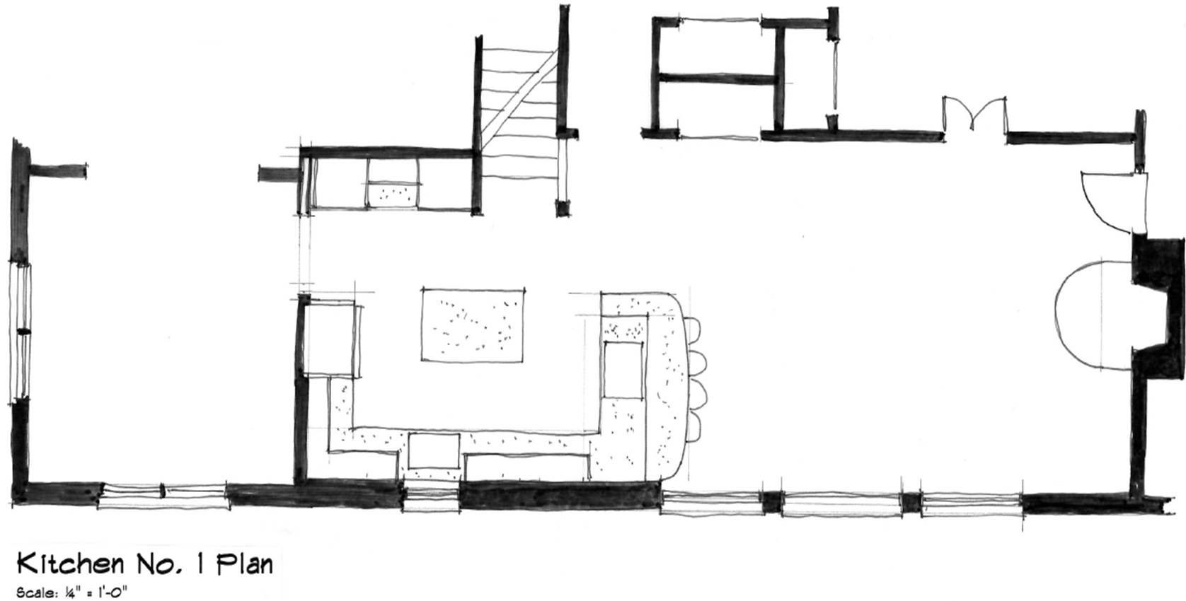 Kitchen No. 1 Plan