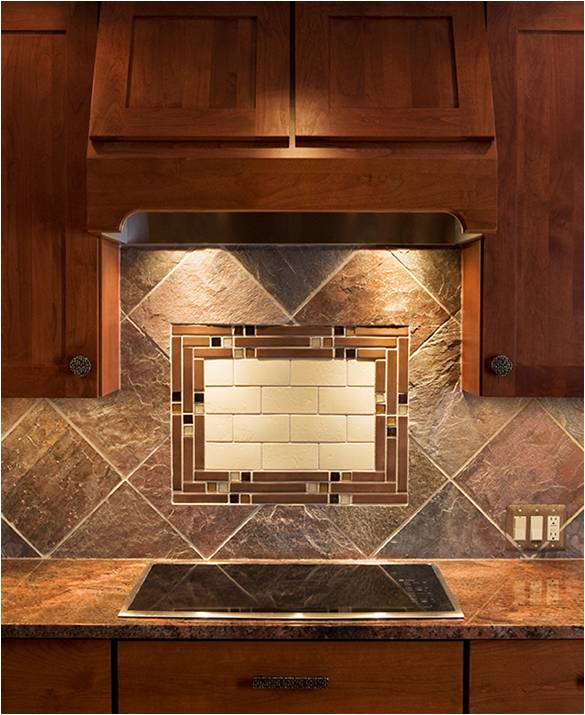 chocolate backsplash