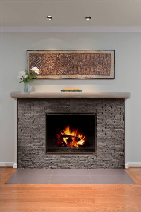 mocha slate fireplace